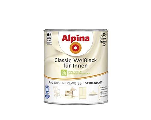 Alpina Farben GmbH–Alpina Farbe Weiß 750ml innen Farbe classic, RAL 1013Pearl Weiß Satin