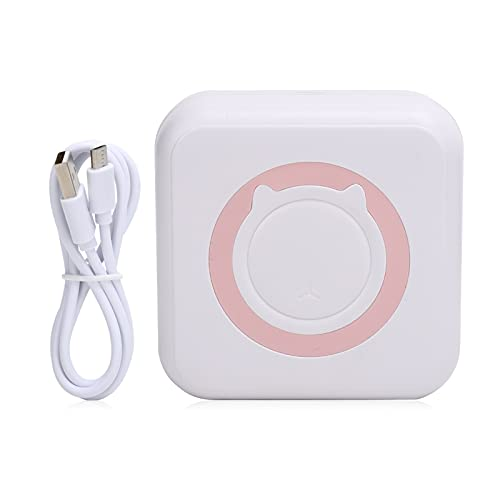 Impresora de Bolsillo Bluetooth, Mini Impresora de Bolsillo portátil respetuosa con el Medio Ambiente Mini Impresora térmica de Bolsillo para Notas de Etiquetas fotográficas(Pink)