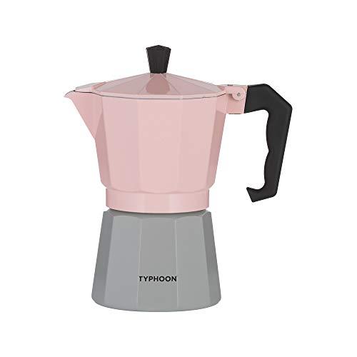 Typhoon Cafe Concept 1401.795 - Macchina per caffè espresso da 6 tazze, colore: rosa e grigio