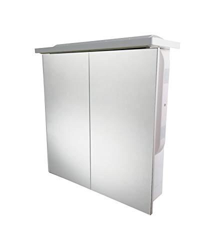 Spiegel 61 x 62,7 x 17, met LED-verlichting en autoradio-installatie Bluetooth