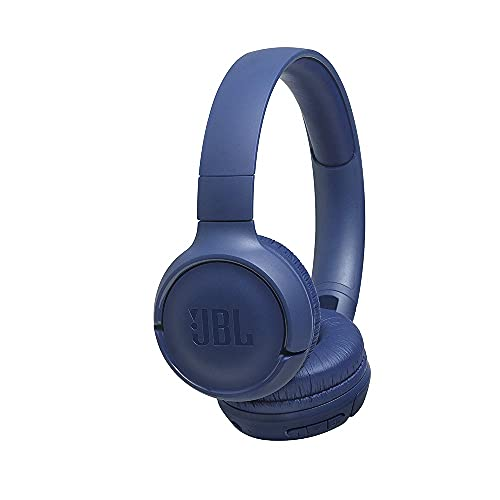 JBL Tune 500BT by Harman Powerful Bass Wireless On-Ear Headphones with Mic, 16 Hours Playtime & Multi Connect Connectivity (Blue)
