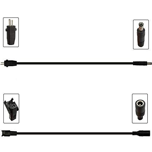 BaiDian - Adaptador de corriente universal CA / CC, conector CC, cargador universal multifuncional cable de transformador CC de clavija plana redonda de cien puntos para telesilla eléctrica reclinable
