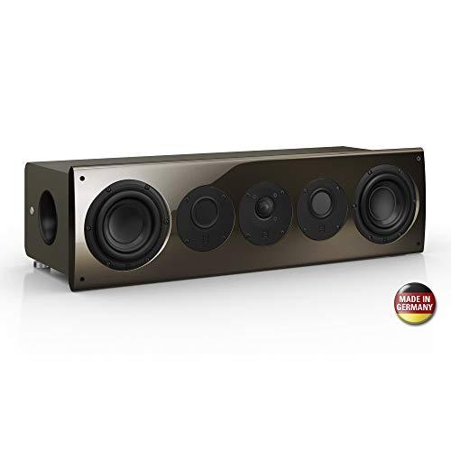 Nubert nuVero 70 Centerlautsprecher | High End Lautsprecher für Heimkino & Musikgenuss | Stimmen auf höchstem Niveau | Passive Centerbox mit 3 Wege Technik Made in Germany | Kompaktlautsprecher Braun