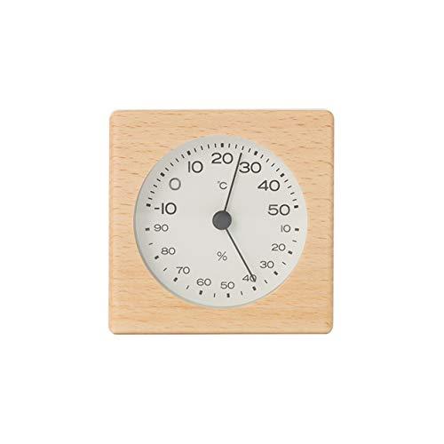 無印良品 ブナ材温湿度計 置型 サイズ:幅70×奥行43.5×高さ70mm 15832699