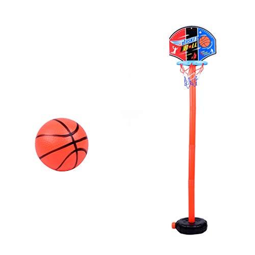 NUOBESTY Verstellbarer Basketballkorbständer mit 1Ball Plastikkinderjungen-Basketballkorb Und Rückwandset Tragbares Lustiges Interaktives Basketballspielzeug im Freien Lernspielzeug Das