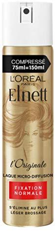 L'Oréal Paris Elnett Laque Fixation Normale en Format Compressé 75 ml