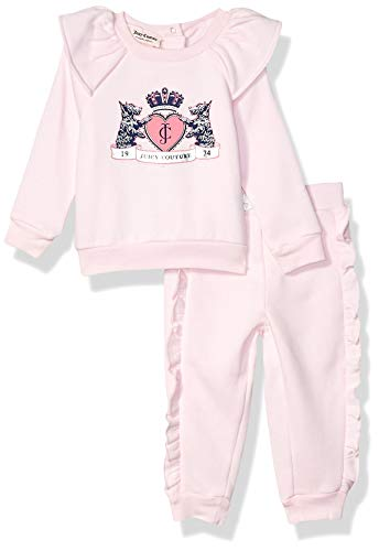 Juicy Couture Baby Girls 2 Pieces Jog Set, Frozen Petal, 6-9 Months
