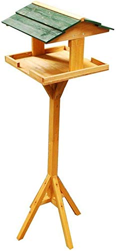JEE Traditional Wooden Bird Tables Attractive Garden Bird Tables and Feeding Stations with Free Standing House Perch Bracket Stand and Tray