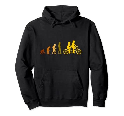 Tandem Radfahrer Geschenk Pullover Hoodie