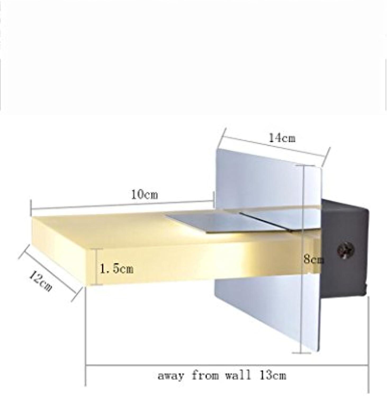 Modern Zeitgenssische LED Wandleuchte LED rostfreier Stahl Acryl Schatten Moderne Einfachheit Spiegelfrontlicht Hotel Badezimmer Badezimmer Spiegelfrontlicht Birne eingeschlossen