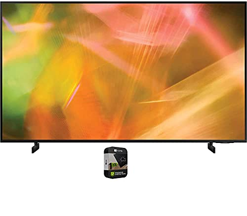 Samsung UN43AU8000FXZA 43 Inch 4K Crystal UHD Smart LED TV 2021 Bundle with Premium 1 Year Extended Protection Plan