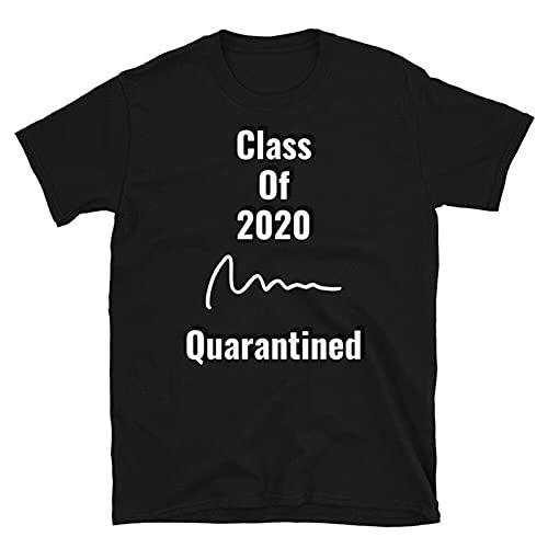 tinka Class of 2020 Quarantined Seniors Flu Vir Quarantine Grad T-Shirt S Black