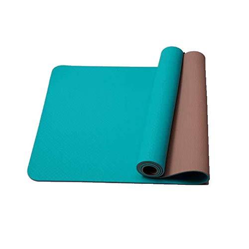 SHANGU Physio Premium TPE Gymnastikmatte, Yogamatte Gepolstert & rutschfest Für Fitness Pilates & Gymnastik Mit Tragegurt - Maße 183cm Länge 80cm Breite(SGS Geprüft)