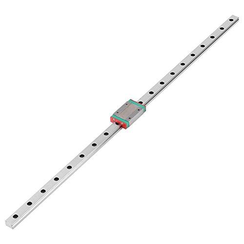 Mini guida lineare da 550 mm, guida scorrevole lineare precisa con blocco guida lineare con blocco carrello per stampante 3D(500mm)