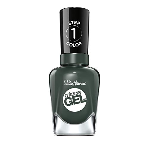 Sally Hansen Miracle Gel Nagellack, 762 Leaf Me Be, grünliches Taupe, Khaki, 15 g