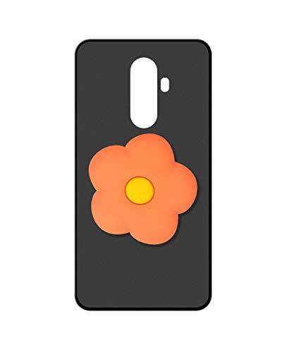 Sunrive Kompatibel mit DOOGEE BL12000 Hülle Silikon, Ständer Fingerhalter Fingerhalterung Handyhülle matt Schutzhülle Etui Hülle (Orangenblume) MEHRWEG