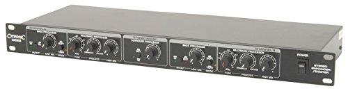 Citronic CE22 Multi-Band-Sound-Prozessor Bass-Effektgerät (Surround Prozessor, variabler Prozess zwischen Enhancer und Exciter, 48cm (19 Zoll) Rackmontage -2 HE)