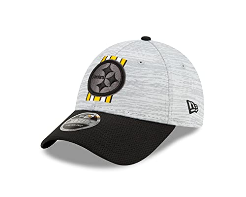 New Era Pittsburgh Steelers NFL Training 2021 Grey 9Forty Stretch Snapback Cap - One-Size