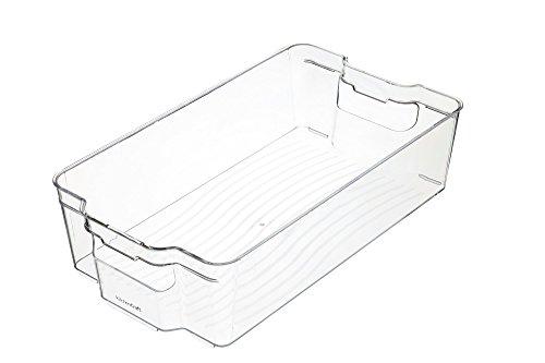 Kitchencraft grande fridge-safe plástico cocina caja de almacenaje, 37,5x 21x 10cm (15'X 8.5' x 4')–transparente, 1x 1x 1cm)