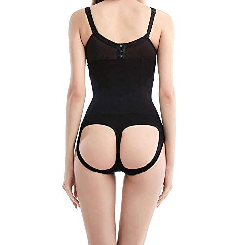 Warto mieć - Bielizna kształtująca sylwetkę z wysoką talią figi, body modelujące dla kobiet body body body body shaper brzuch (kolor: Czarny, rozmiar: S)