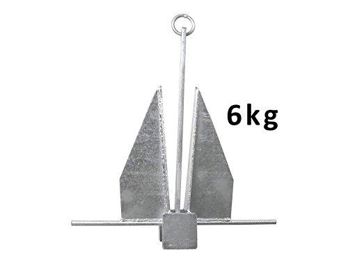 John Paddle Anker Danforth Plattenanker 6,0 kg aus verzinkter Stahl mit Befestigungsring