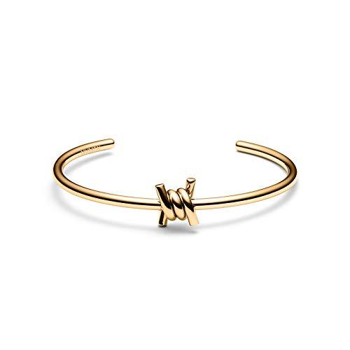 MVMT Women's Single Barbed Cuff Bracelet | Open Closure, Stainless Steel | Gold