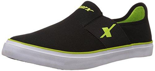 Sparx Men's Black Green Loafers - 9 UK