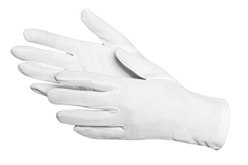 Jah 2024 Nylon Gants, Oekotex, difficile, blanc, Taille 12, lot de 24