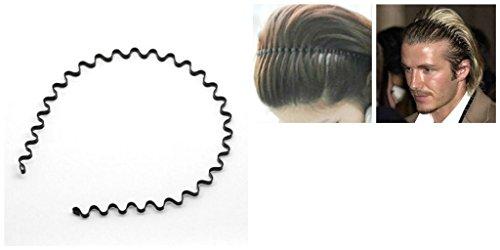 Vale Haarreif / Haarband, aus Metall, Wellenform, Unisex, Schwarz