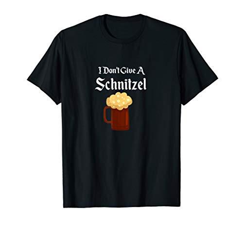 Deutsches Bier-trinkendes Schnitzel Oktoberfest im Oktober T-Shirt
