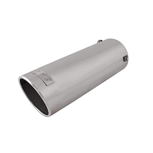 DC Sport EX-1015 Stainless Steel Resonated Slant Cut Bolt-on Exhaust Tip