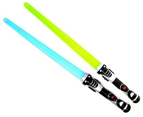 ARUNDEL SERVICES EU 2 Paquetes de sables de luz Sable de luz Espada Ligera Verde Azul Juego Espacial Espada Espada de Juguete
