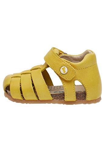 Falcotto Bartlett-Halboffener Lederschuh-Gelb gelb 26