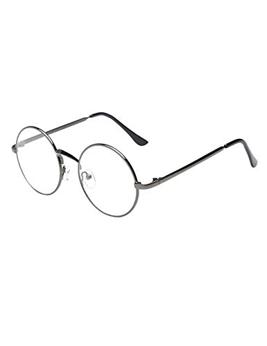 Zhhlaixing Unisex rund Brillengestelle Herren Damen Dekobrillen Slim-Brille Brillenfassung clear lens Retro Brille mit Brillenetui