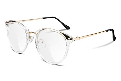 FEISEDY Women Vintage Glasses Frames Round Non Prescription Eyewear Clear Lens B2260