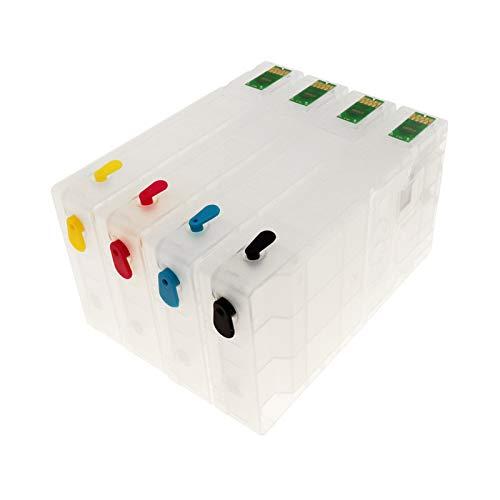 Ser aplicable Cartucho de Tinta Recargable con Arco Chip t7891 T7892 T7893 T7894 para Epson Pro WF-5110 5190 5620 5690 Impresora Material de Oficina