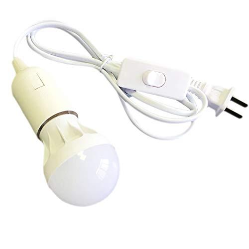 ZHANGSHENG Zsheng E27 Bombilla LED Blanco Amarillo Mini luz Colgante Tapa de la lámpara de Enchufe con Kit de Interruptor (Color : EU Adapter, Emitting Color : White)