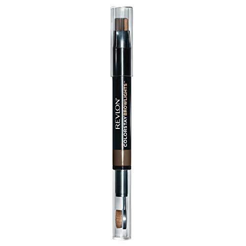 Revlon Colorstay Browlights Pencil, Eyebrow Pencil & Brow Highlighter, 0.55 Lb, Dark Brown