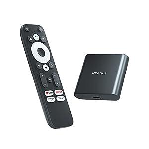 Anker Nebula 4K Streaming Dongle (Android TV 10.0搭載 ストリーミングドングル)【4K UHD/Googleアシスタント対応/簡単セットアップ/Chromecast対応/Dolby Digital Plus対応 / 7000種類以上のアプリケーション / 2GB RAM搭載 / 8GB ROM搭載】