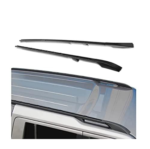 Reemplazo de rieles del Techo, Compatible con Land Rover LR3 LR4 2005-2016 Par OE Barra de riel Lateral del Perno de Aluminio de Estilo (Color : Black)