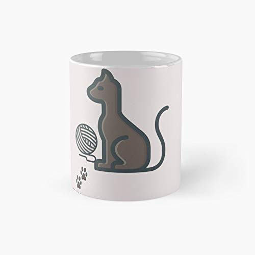 Camiseta de gato para mascotas feminismo regalo mano Draw camisa de algodón orgánico vegano minimalista clásico taza mejor regalo tazas de café divertidas 11 oz
