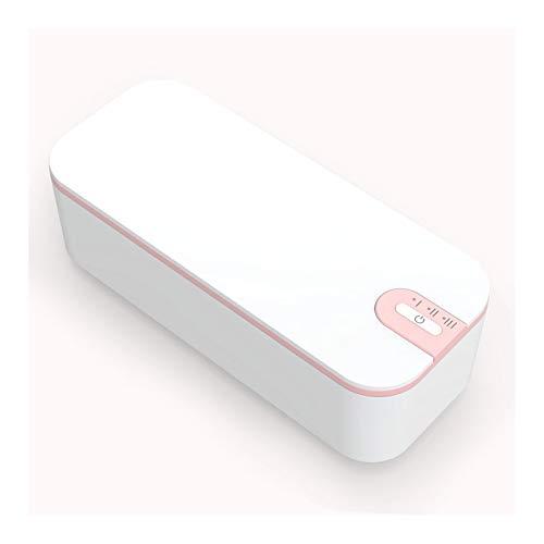 Limpiador Ultrasónico 680ML 24W, Limpieza de 360°, Limpiador de joyas ultrasónico profesional acero inoxidable 304 para pincel de maquillaje, lentes de contacto, gafas, relojes,White+pink