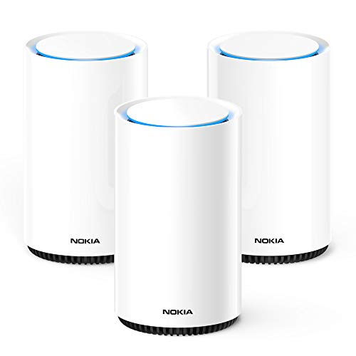 Nokia WiFi Beacon 3 Router System - Intelligent, Seamless Whole Home WiFi Coverage Extender - Connect Your Whole House Wifi Network, ULTRA FAST Self-Healing Mesh Router System - Trio (3-pack)