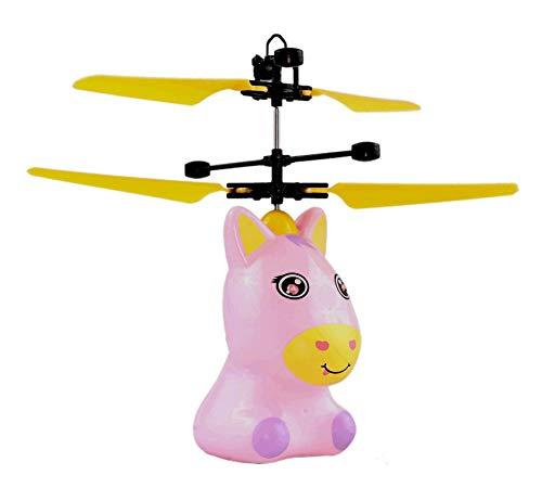 Dreamtoys Fliegendes Pony Pegasus Einhorn - Unicorn mit Heller Led Beleuchtung Pink Rosa Einfach zu Steuern mit der Hand Das Spielzeug für kleine und große Girls Tolles Geschenk für Jede Party