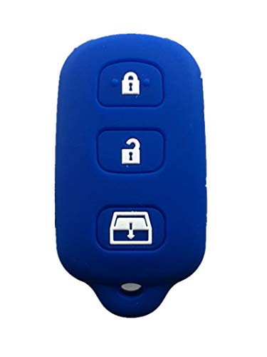 Rpkey Silicone Keyless Entry Remote Control Key Fob Cover Case protector Replacement Fit For 1999-2009 Toyota 4Runner 2001-2008 Toyota Sequoia HYQ12BBX HYQ12BAN HYQ1512Y