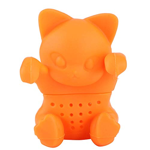 Tea Strainer Filters Cute Cat‑Shaped Loose Tea Leaf Strainer Filter Silicone Tea Infuser Accessory for Home Office