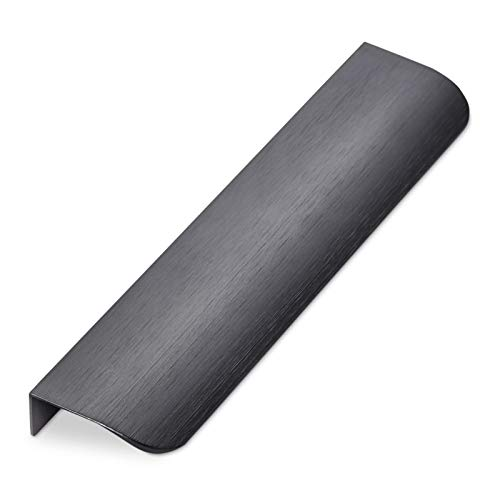Möbelgriff BLANKETT round 200 mm Titanoptik gebürstet Profilgriff für rückseitige Verschraubung Schubladengriff Griff-Profilleiste von SO-TECH®
