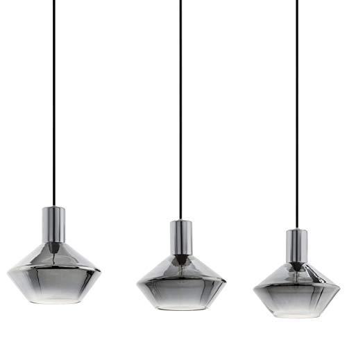 EGLO Lámpara colgante Ponzano, 3 focos, lámpara colgante moderna, lámpara de techo...