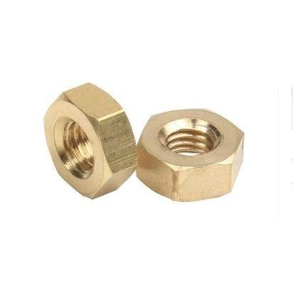 ZSZJ Nuss 2-50pcs DIN934 M1 M1.2 M1.4 M1.6 M2.5 M2 M3 M4 M5 M6 M8 M10 M12 Edelstahl Messing Stahl mit schwarzem Aluminium Muttern Sechskantmutter Schraube (Color : Brass hex nut, Size : M1.6 50PCS)