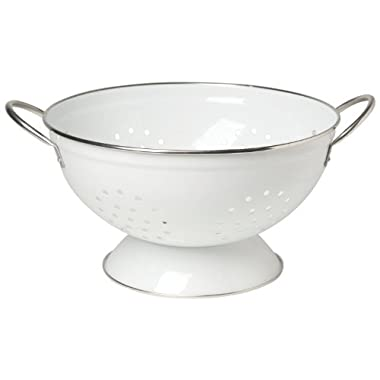 Now Designs Metal Colander, 3-Quart, White